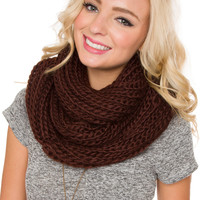 Once Upon A Time Scarf - Chocolate