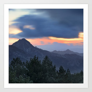 Dream sunset. At the mountains... Art Print by Guido Montañés