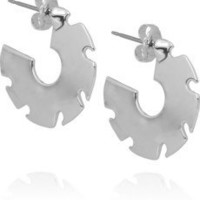 Dominic Jones | Saw Blade 23-karat white gold-plated earrings | NET-A-PORTER.COM