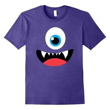 Funny Scary Monster Costume Halloween Shirt for Kids Adults