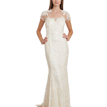 Js Collections Sequined Floral Gown