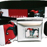 DC Comics Harley Quinn Comic Strip Joker Seatbelt Fashion Belt