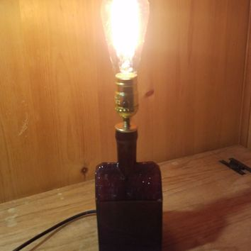 Antique Booz Whiskey Bottle Lamp