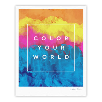 "Galaxy Eyes ""Color Your World"" Rainbow Paint Fine Art Gallery Print"
