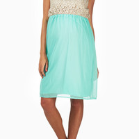 Mint-Green-Crochet-Top-Maternity-Dress