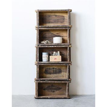 Brick Mold Wall Shelf Found Wood | 5 Shelves