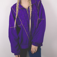 Vintage Jewel Purple Windbreaker Jacket