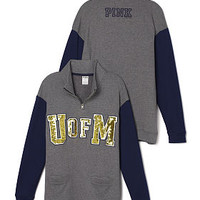 University of Michigan Bling Boyfriend Half-Zip - PINK - Victoria's Secret