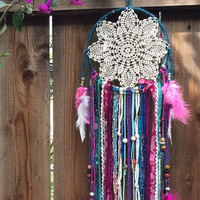 The Silverlake - Dream Catcher, Dreamcatcher, Boho Dreamcatcher, Bohemian Dreamcatcher, Boho Decor, Boho Home Decor, Bohemian Home Decor