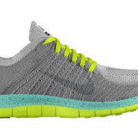 Nike Free 4.0 Flyknit iD Custom Women's Running Shoes - Yellow