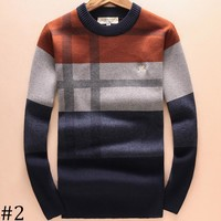 Burberry 2018 autumn and winter men's new knitted round neck sweater F-A00FS-GJ #2