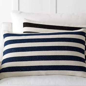 MINI AWNING STRIPE DHURRIE LUMBAR PILLOW COVER