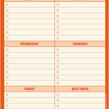 This Week Large List Pad 60 Sheets