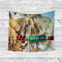 """Ocean Drive"" Beach Wall Tapestry"