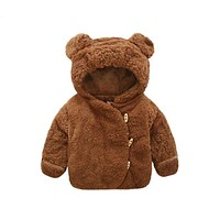 Newborn Baby Hoodie Jacket Fur Thick Infant Toddler Children Warm Snowsuit Outerwear Clothes Bebe Snow Winter Coat