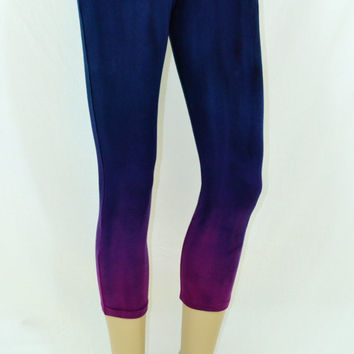 Yoga Leggings, Ombre Leggings, Hand Dyed, Hippie Clothes