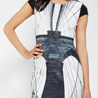 Urban Outfitters - bluejuice Brooklyn Print Bodycon Dress