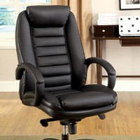 Andover Contemporary Office Chair, Black Finish