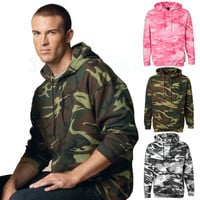 Code V Mens Camouflage Pullover Hooded Sweatshirt Camo Hoodie S-2XL 3969