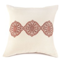 Exotic Embroidery Throw Pillow