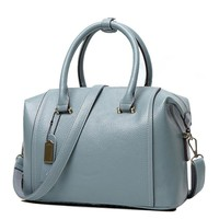 Laramie Faux Leather Satchel Bag