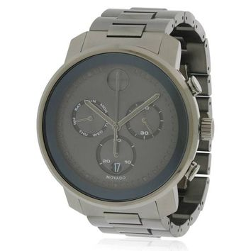 Movado Bold Black Stainless Steel Mens Watch 3600486