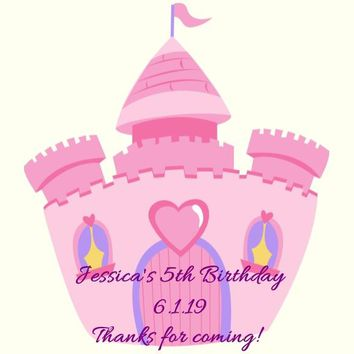 Princess Castle Birthday Party Favor Tags