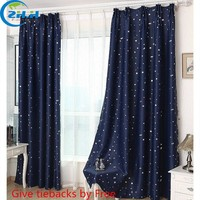( Single Panel ) Modern Hooking Blackout Children Curtains Star Window Curtain Decoration Draperies Living Room Bedroom Cortina