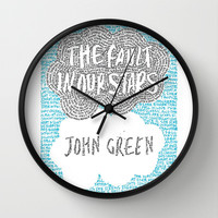 The Fault in Our Stars Wall Clock by S. L. Hurd