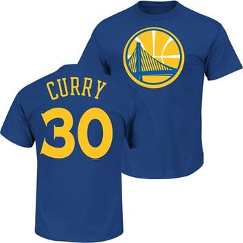 Fanzz Sports Apparel,Golden State Warriors Stephen Curry #30 NBA Youth Name And Number T-Shirt (Blue) NFL, NBA, MLB Apparel, NFL, MLB, NBA Jerseys and Merchandise, NHL Shop | Fanzz