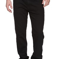 Levi's 508 Black Slim Taper Jeans - Mens Jeans - Black