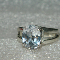 Purity promise ring white sapphire