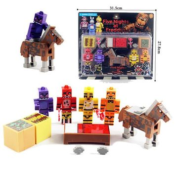 at  Assemble Toys Blocks Action Figure Funtime Freddy Figurine Horse Puppet Tracks Brinquedos Nendoroid Kids