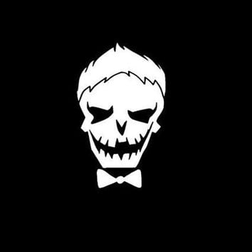 Suicide Squad Joker Skull Vinyl Car Laptop Window Wall Decal