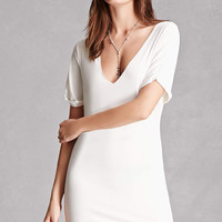 Raw-Cut Jersey Knit Dress