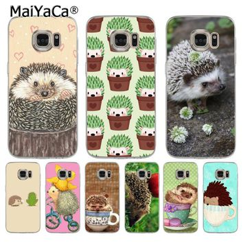 MaiYaCa Hedgehog Cute in Teacup Animal soft tpu phone case cover for samsung galaxy s7 s6 edge plus s5 s9 s8 plus case