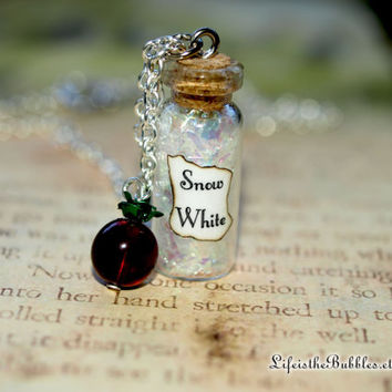 Snow White Magical Necklace with an Apple Charm, Once Upon a Time,  Storybrooke, ABC Television, by Fandom Magic