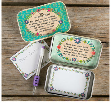 SERENITY PRAYER - PRAYER BOX