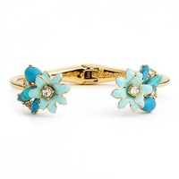 Women's kate spade new york 'glossy petals' hinged cuff