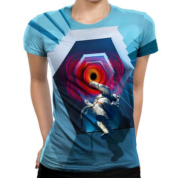 Into The Unknown Astronaut Womens T-Shirt