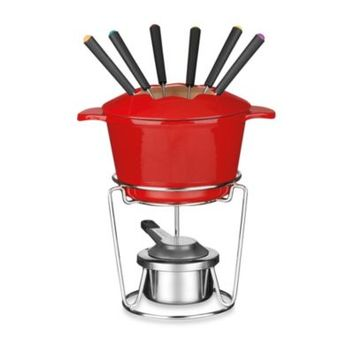 Cuisinart® 13-Piece Enamel Cast Iron Fondue Set in Red