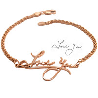 Memorial Bracelet: Custom 14K Bracelet Remembering Loved Ones
