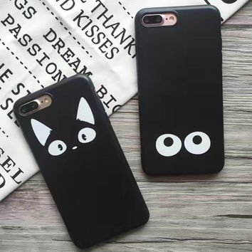 Black Cat iPhone 7 7Plus & iPhone se 5s 6 6 Plus Case Cover +Gift Box-183