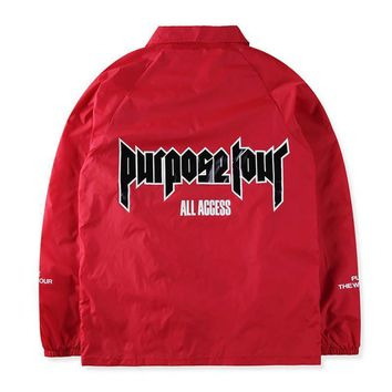 cc hcxx Red Purpose Tour Windbreaker Jacket