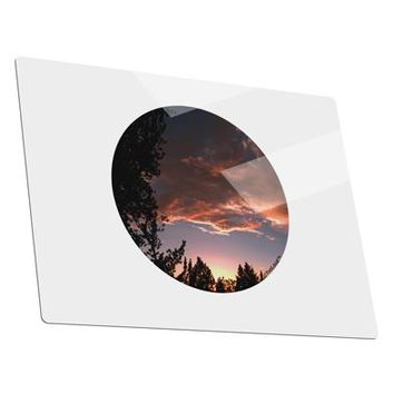 Forest Sunset Metal Panel Wall Art Landscape - Choose Size by TooLoud