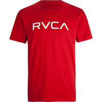 Rvca Big Rvca Mens T-Shirt Red  In Sizes