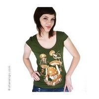 Handmade Gifts | Independent Design | Vintage Goods Mushroom & Jellyfish Princess Tee - Apparel - Girls
