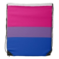 Bisexuality flag Drawstring Backpack