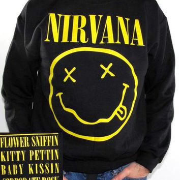 Nirvana Sweatshirt - Smiley Face