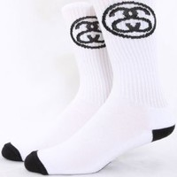 Stussy, SS Link Crew Socks - White - Accessories - MOOSE Limited